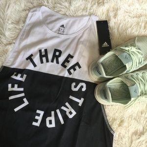 Adidas Three Stripe Life Tank Top